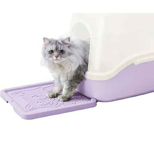 日本Richell卡羅貓踏板便盆/尿盆/寵物廁所/落砂墊/落卡羅貓沙踏墊