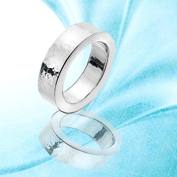 銀淬坊 PurCoeur 925純銀 素面簡單造型圓形男戒6mm 戒指