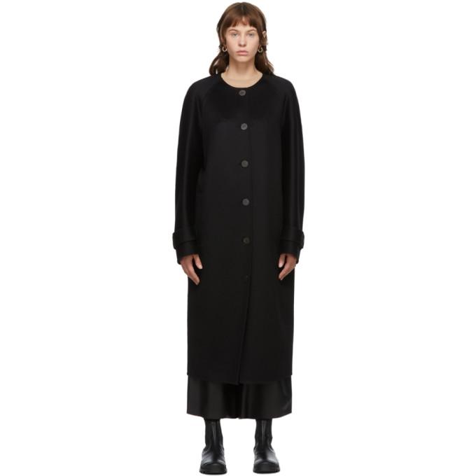 Loewe 黑色插肩袖大衣