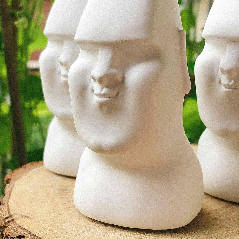顏藝系列 微笑摩艾擴香石三件組 交換禮物 居家香氛 情人節