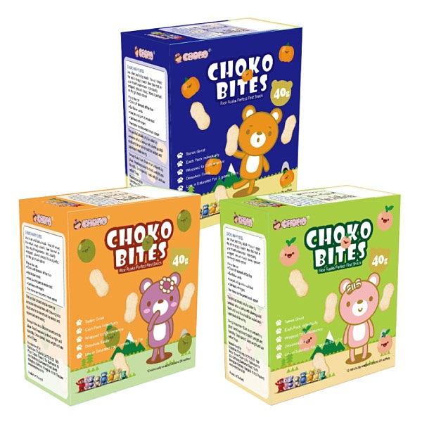 CHOKO 俏菓 無糖無鹽系列米餅40g(水蜜桃/奇異果/日本南瓜)6個月以上