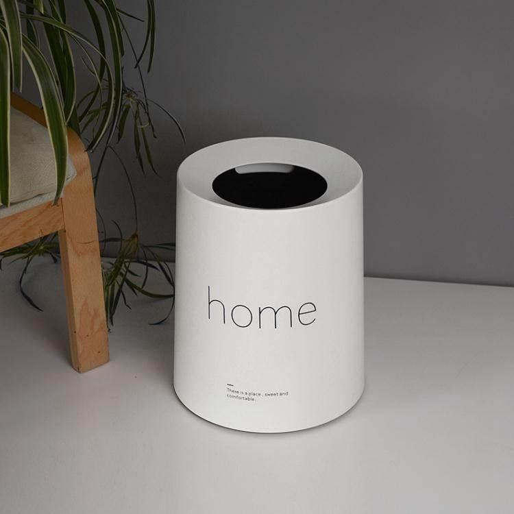 北歐風創意塑膠垃圾桶 家用客廳臥室衛生間簡約無蓋紙簍垃圾桶