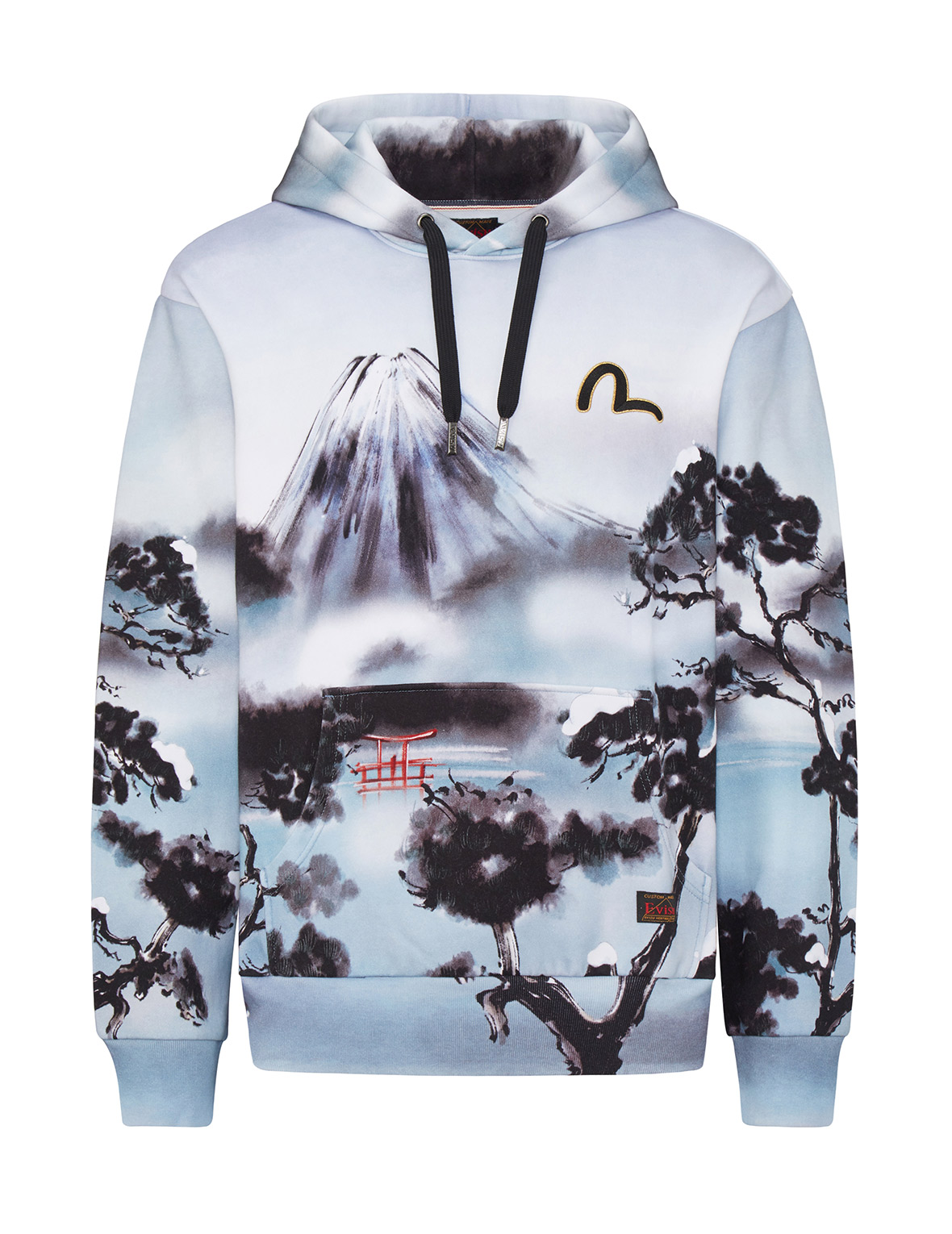Allover Mountain and Taka Print Hoodie