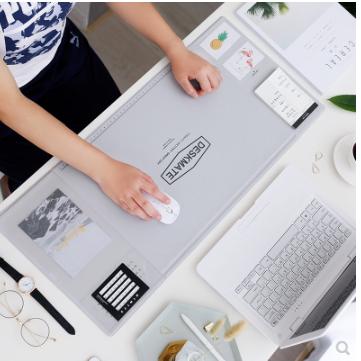 【現貨】桌面電腦辦公室禁欲系書桌墊毛氈多功能備忘寫字臺超大號鼠標墊女TWXH-01640