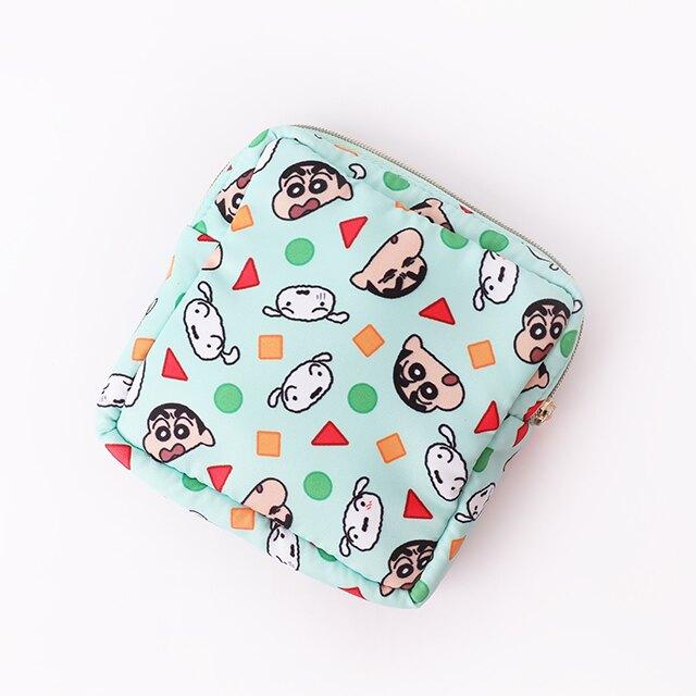 蠟筆小新Puffy Bag方形拉鍊包- Norns Crayon Shin chan正版授權 睡衣圖案 生理包 隨身化妝包 收納包