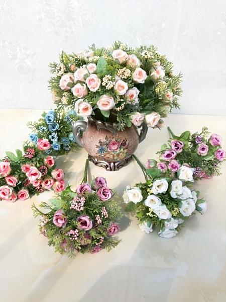 香皂花 婚慶仿真花假花裝飾花石榴蕾玫瑰花塑膠花婚禮手捧花束 ciyo黛雅