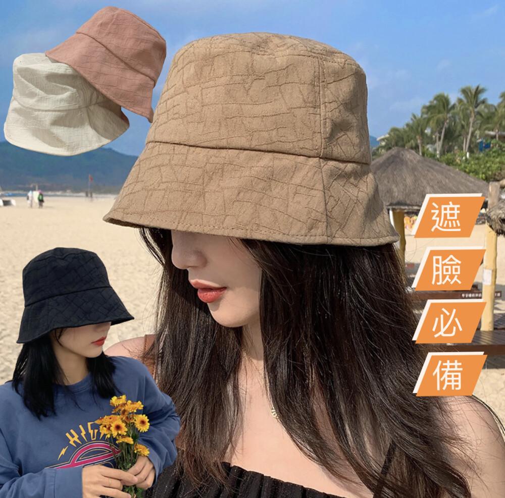 百搭款 日系水桶帽 遮陽帽 盆帽 漁夫帽子