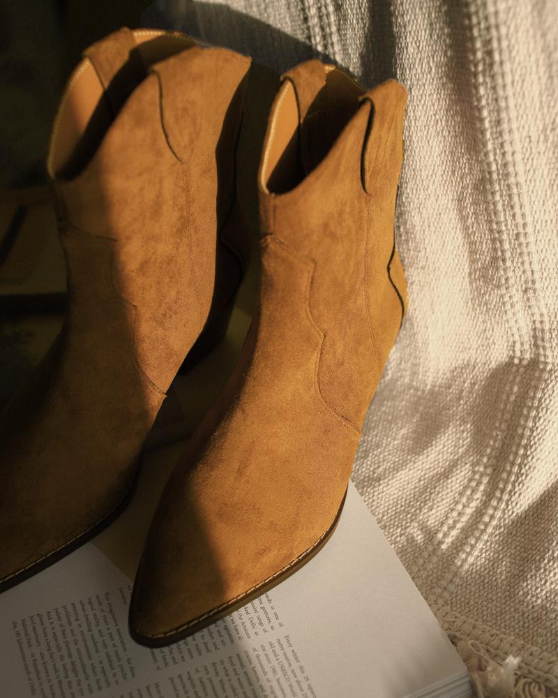 個性尖頭西部短靴-Mercci22
