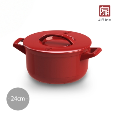 JIA Inc. 品家家品 Ceraglaze晶釉瓷 雙耳鍋24cm-4.3L