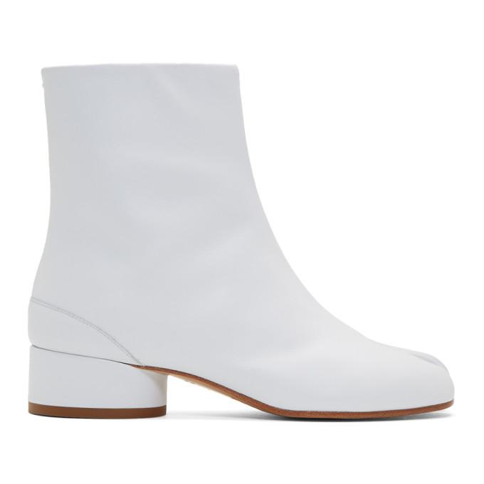 Maison Margiela 白色 Tabi 低跟踝靴