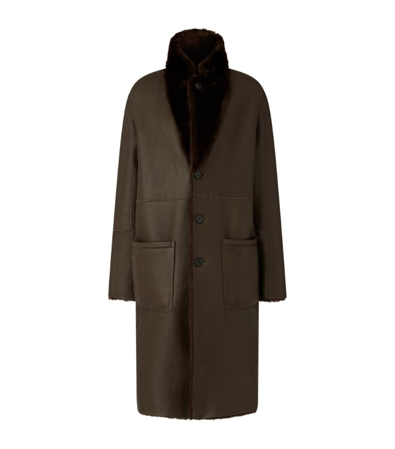 Joseph Brittany Polar Leather Coat