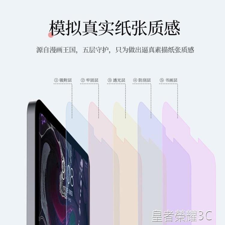 TOTU iPad類紙膜ipad9.7手寫pro11寸mini4/5繪畫膜2磨砂3紙感鋼化全屏10.5寫字平板仿紙貼膜 清涼一夏钜惠