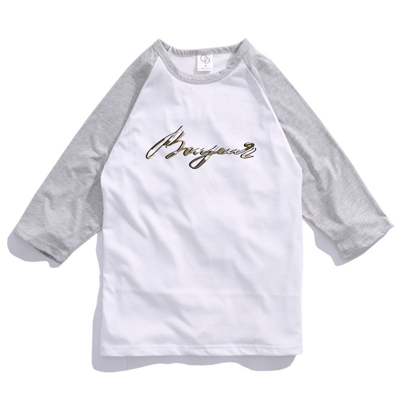 ONE DAY 台灣製 157C335棒球七分T 寬鬆衣服 短T 短袖衣服 衣服 T恤 寬鬆短袖 短袖T恤 落肩短T