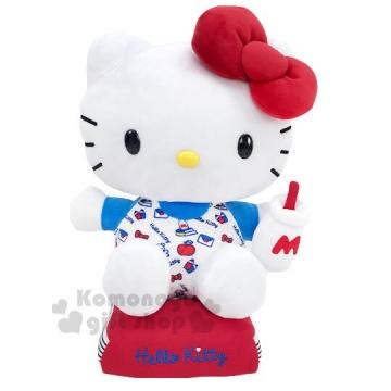 〔小禮堂〕Hello Kitty 絨毛玩偶娃娃《M.藍紅.牛奶瓶》擺飾.玩具