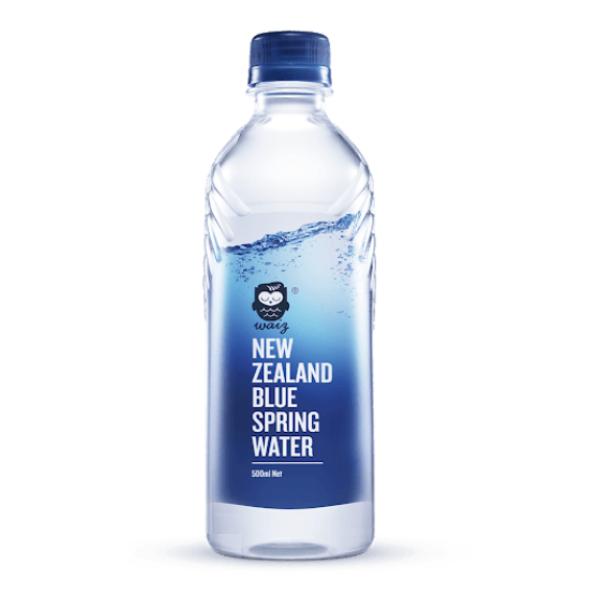 紐西蘭Waiz 藍泉天然水 500ml x 24瓶 免運費  紐西蘭原裝進口 公司貨 正貨 瓶裝水 礦泉水 天然水 飯店 免運 折價卷 高爾夫球 和牛 招待所 紐西蘭水 HS嚴選