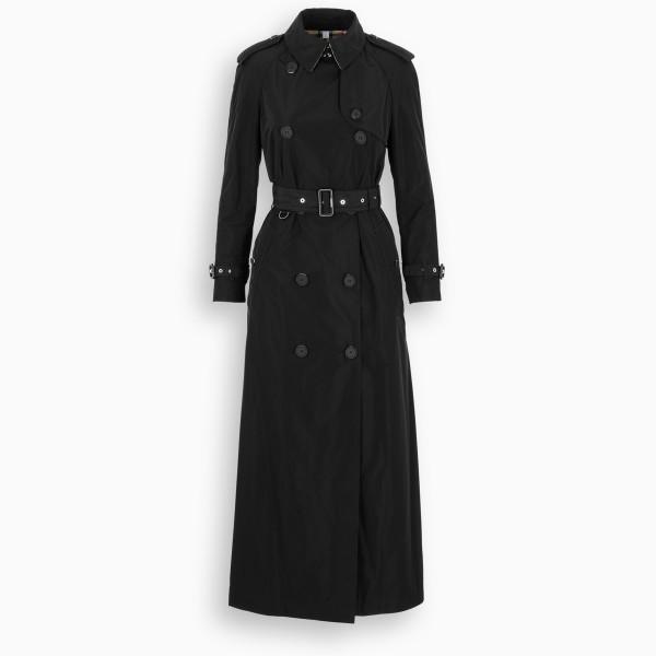 Burberry Black gabardine trench coat