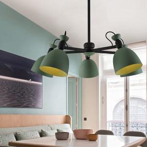 【H&R安室家】 5燈CANDY吊燈綠色