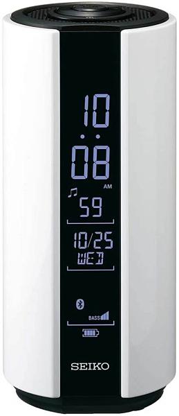 SEIKO【日本代購】精工 液晶鬧鐘 無線音箱-SS201W-白