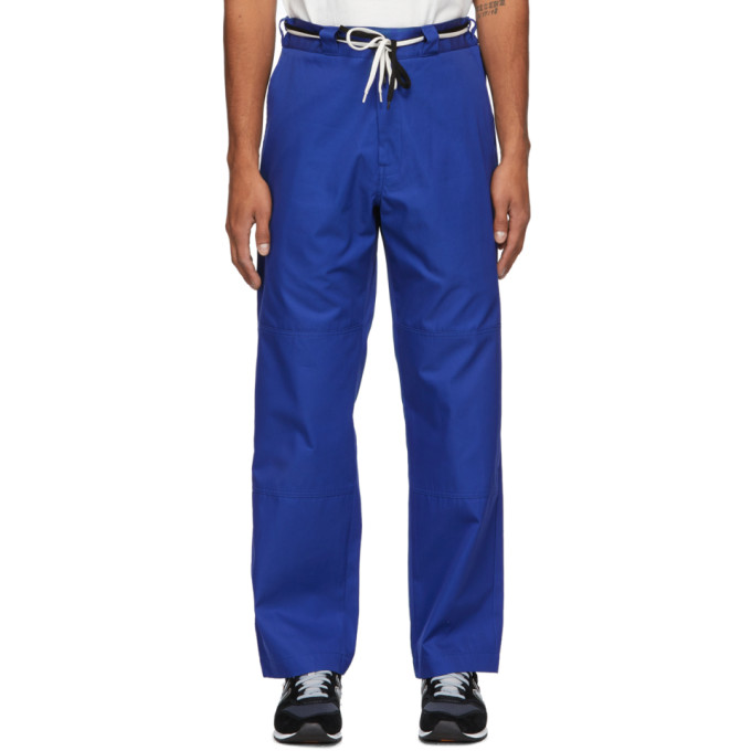 4SDESIGNS 海军蓝 HD Work 斜纹长裤
