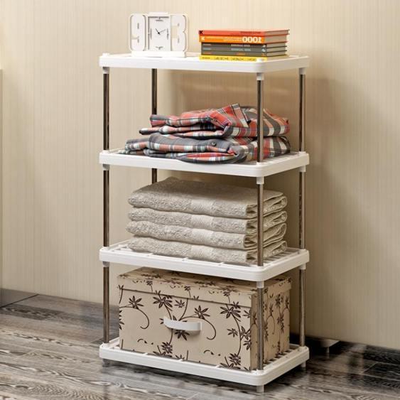 客廳置物架廚房層架塑料落地收納儲物架浴室客廳整理架子四層