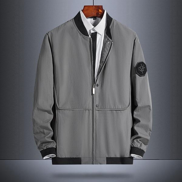 秋季工裝日系夾克外套 時尚男生外套 簡約男士外套 潮流外套潮牌外衣 男外套寬松百搭韓版外套