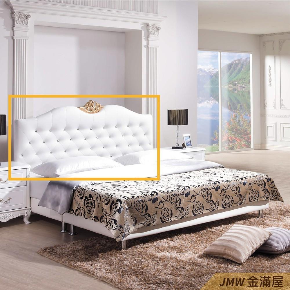 雙人加大6尺 床頭片 床頭櫃 單人床片 貓抓皮 亞麻布 貓抓布金滿屋j115-03 -