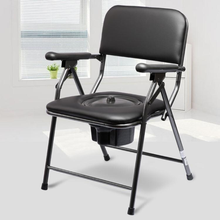 老人坐便器簡易坐便椅移動馬桶孕婦老年蹲便凳座椅可摺疊家用椅子