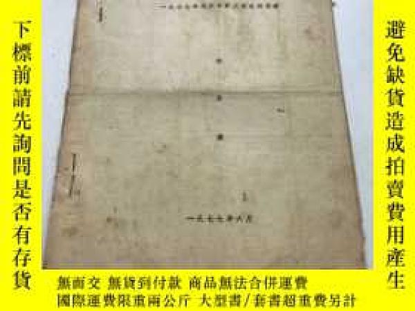 二手書博民逛書店罕見1977年北京市職工武術邀請賽秩序冊Y8147 出版1977