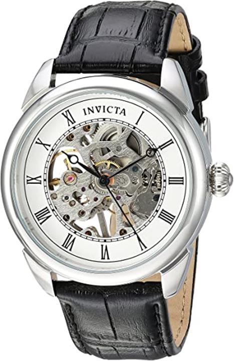 【美國代購】Invicta男士專用不銹鋼機械上弦手錶 帶聚氨酯錶帶 黑色 22(型號:23533)