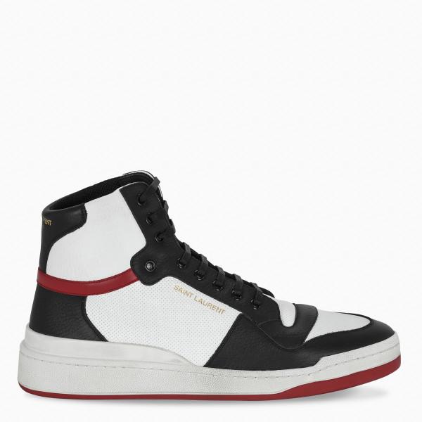 Saint Laurent White/red/black high-top sneakers