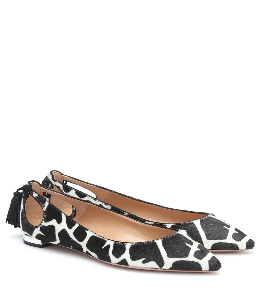 Forever Marilyn calf hair ballet flats