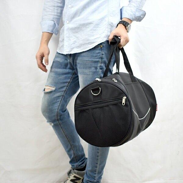 旅行袋 簡單線條大容量圓筒包【NZB32】