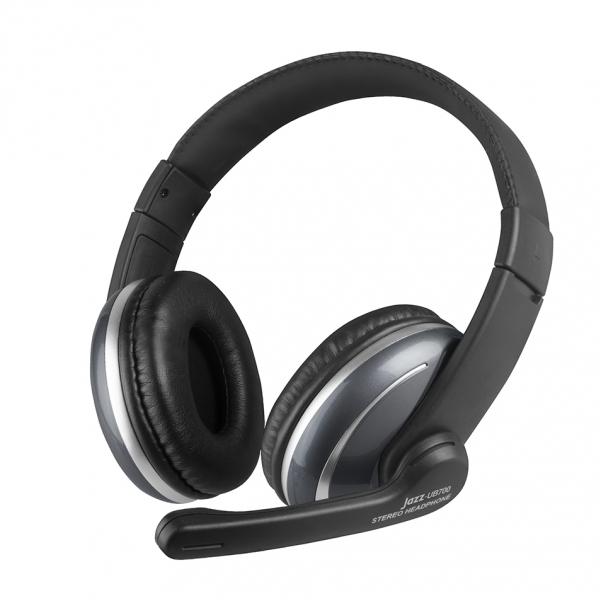INTOPIC 廣鼎 USB 頭戴式耳機麥克風(JAZZ-UB700) / 保固一年