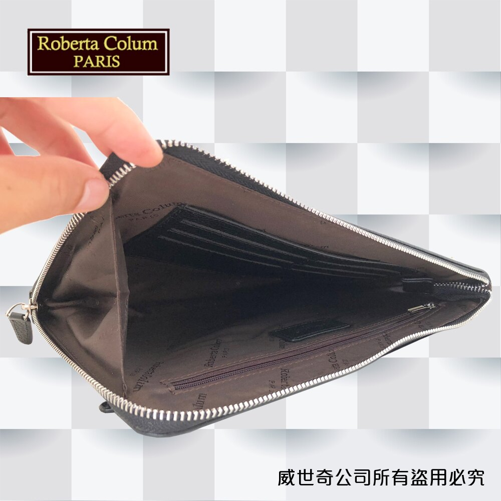 【Roberta Colum】諾貝達百貨專櫃手拿包 側背包 商務包(8911黑色)【威奇包仔通】