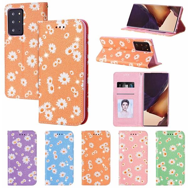 三星 Note20 Note20 Ultra 雛菊皮套 手機皮套 插卡 支架 隱形磁扣 保護套