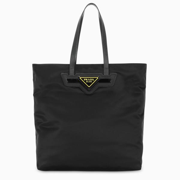 Prada Black nylon shopping bag