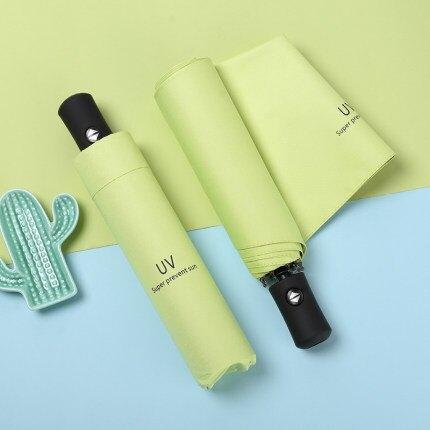 自動雨傘 折疊晴雨兩用s太陽傘男女防曬防紫外線遮陽傘