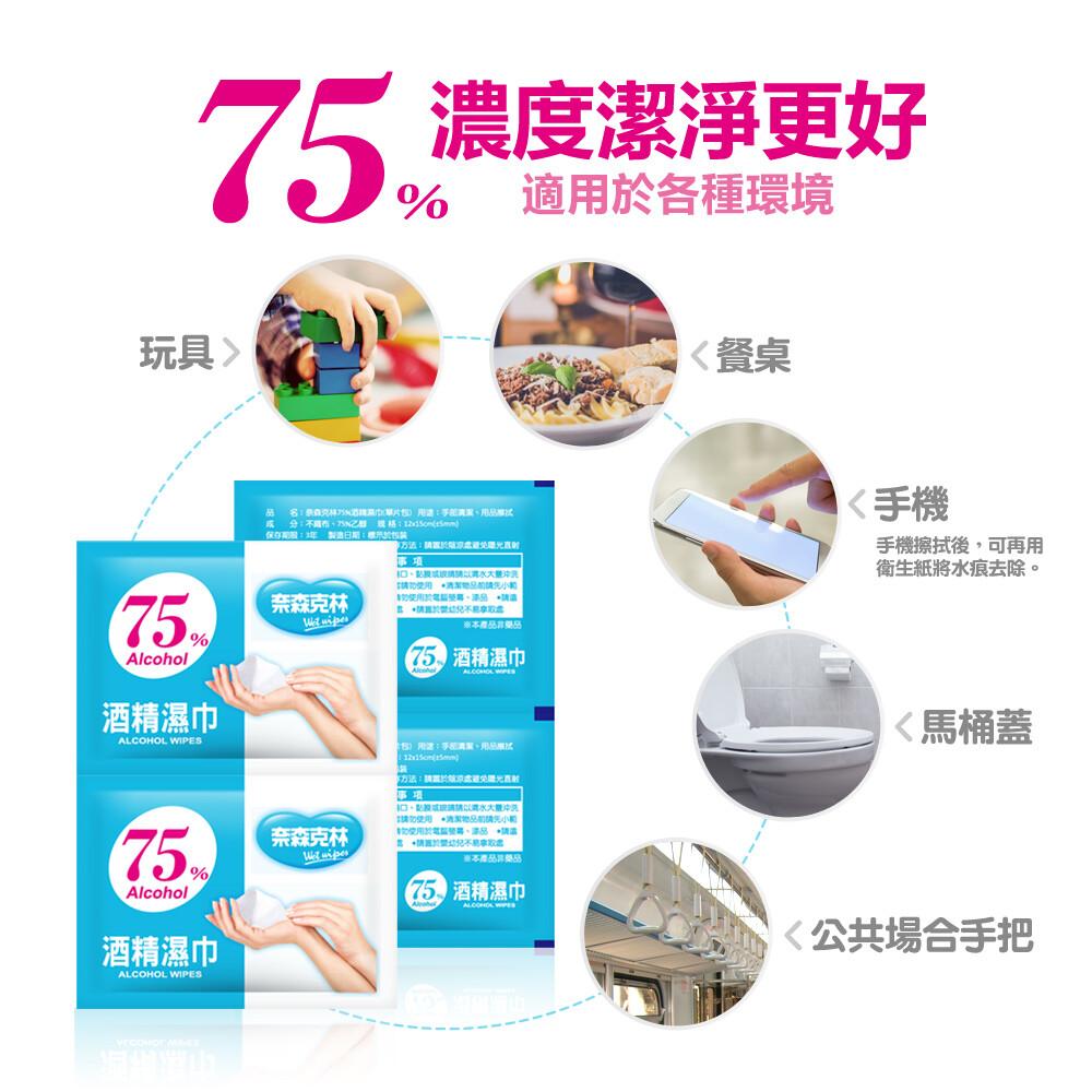 奈森克林 單片 適膚克林 75%酒精消毒嬰兒濕巾 隨身包 台灣製造酒精單片裝
