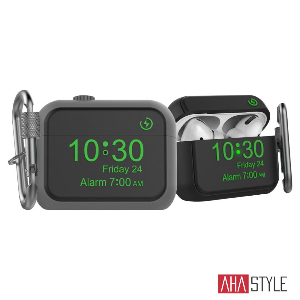 ahastyle airpods pro 掛鉤款矽膠保護套 apple watch造型 經典設計款
