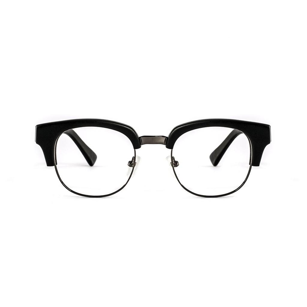 〔框框〕雅痞複合材質金屬眉框眼鏡 (霧黑) 光學眼鏡/鏡框
