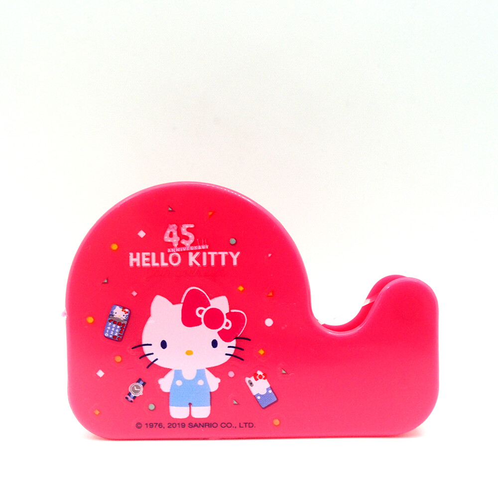 正版授權hello kitty kt_輕巧型膠帶台(45th) krt-212562