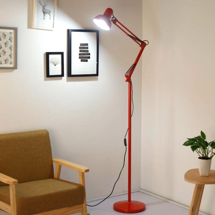 簡約創意美式遙控落地燈客廳臥室床頭書房學習立式臺燈麻將釣魚燈 交換禮物