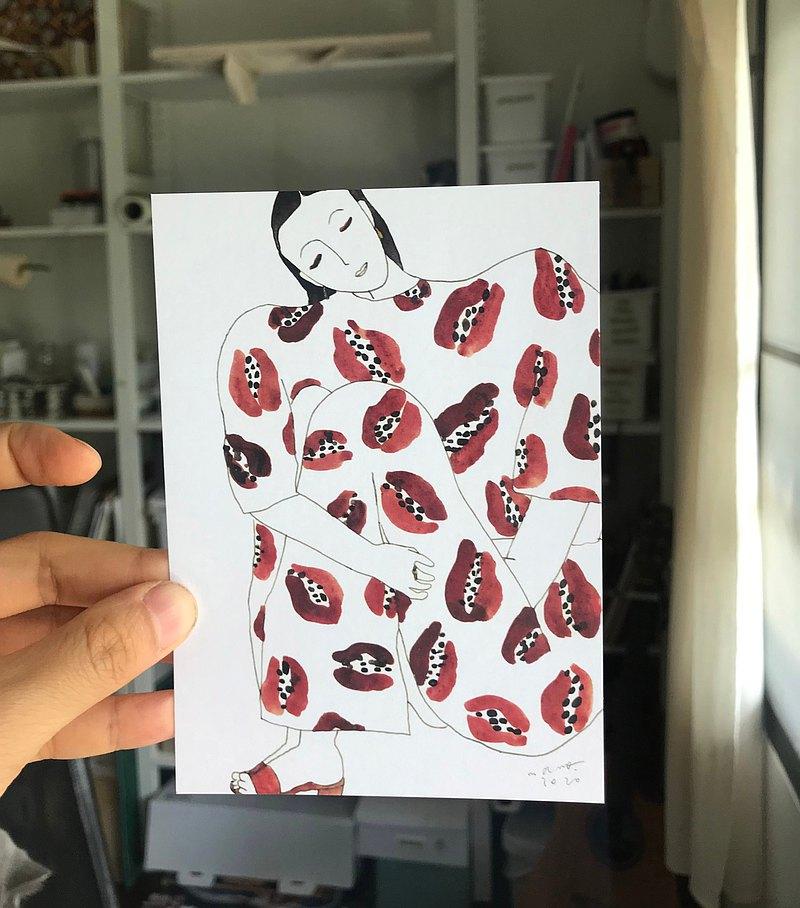 木瓜明信片