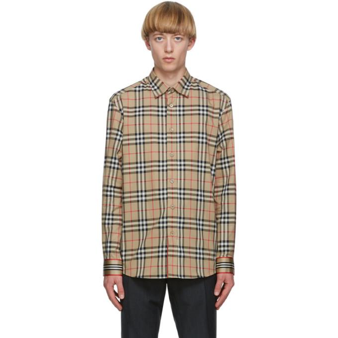 Burberry 驼色 Chartley 格纹衬衫