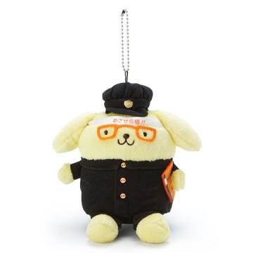 布丁狗 制服絨毛玩偶娃娃吊飾《黑黃》掛飾.鑰匙圈