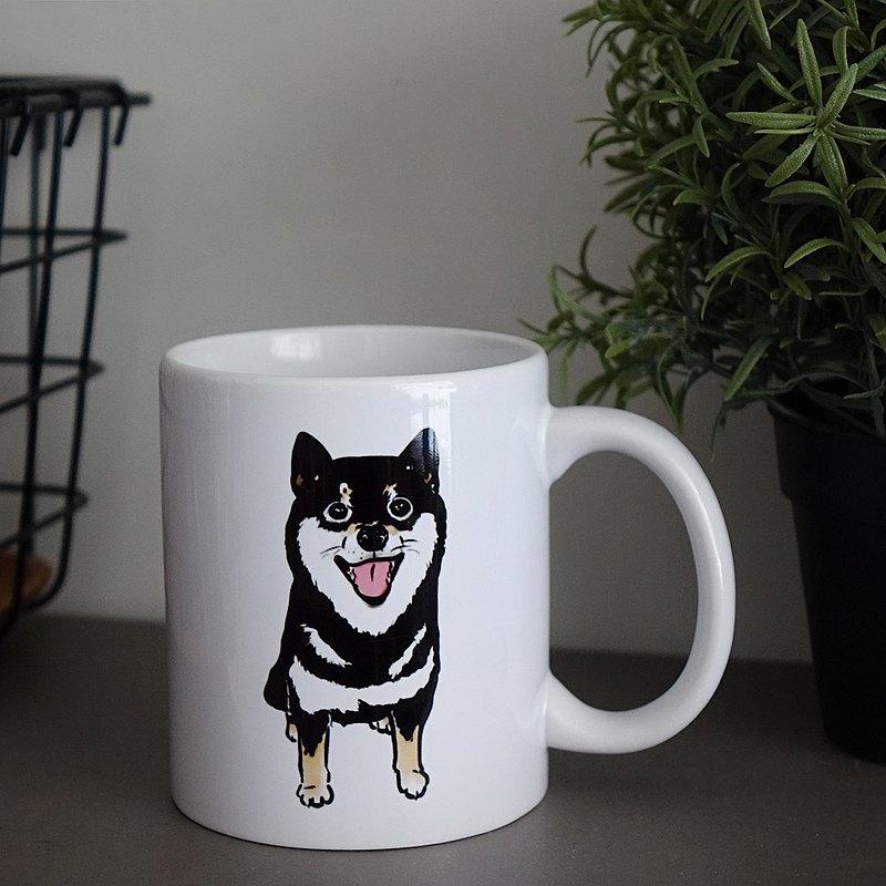 黑柴陶瓷馬克杯