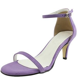 韓國空運 - Suede ankle strap sandals purple 涼鞋