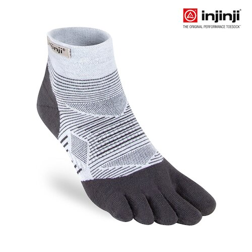 【INJINJI】RUN 輕量吸排五趾短襪(灰色)吸濕排汗 五指襪 五趾襪 短襪 INJB0NAA0293