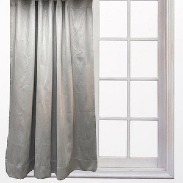 素色壓紋防蟎抗菌防焰半腰窗簾270x165cm 波紋灰