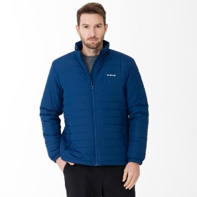 【St. Bonalt 聖伯納】男款立領鋪棉外套 (8208-藏青) 輕薄 保暖